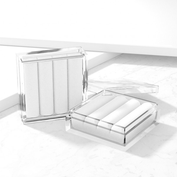 Pudełko akrylowe na trzy kolczyki