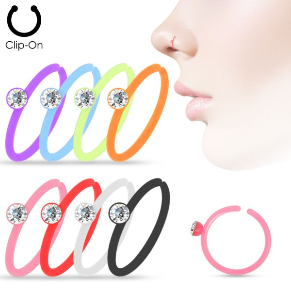 160Pcs Crystal Set Assorted Color Acrylic Nose Hoop Mix Pack