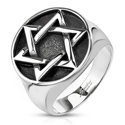 Gwiazdka pierścionek ze stali szlachetnej