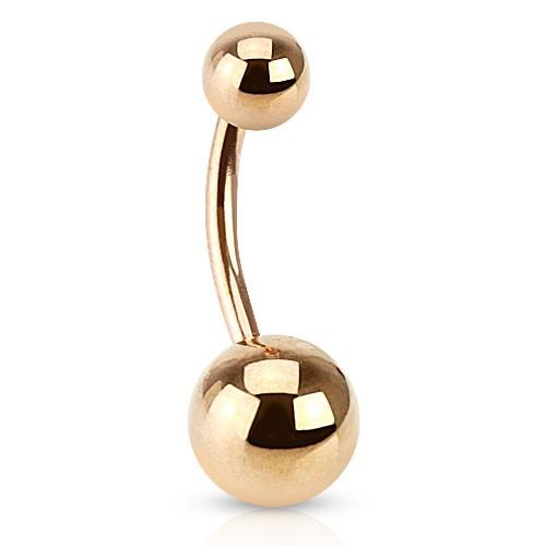 Różowe złoto kulka kolczyk do pępka stal chirurgiczna 316L piercing