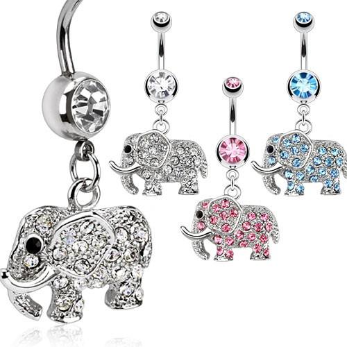 Elefant Zirkonia Bauchnabelpiercing