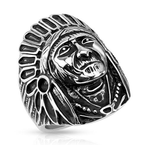 Apache Indianin sygnet pierścień damski męski