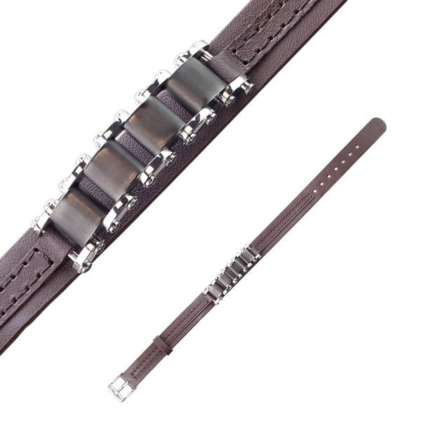 Klasyczna bransoletka ze skóry wysoka jakość biżuteria damska i męska