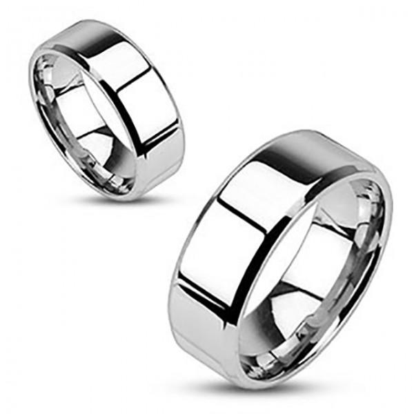 Polerowany pierścionek stal chirurgiczna 316L pierścionek