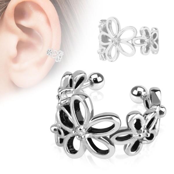 Kwiatki nausznica kolczyk do ucha i chrząstki ucha klipsy bez przekłuwania piercing
