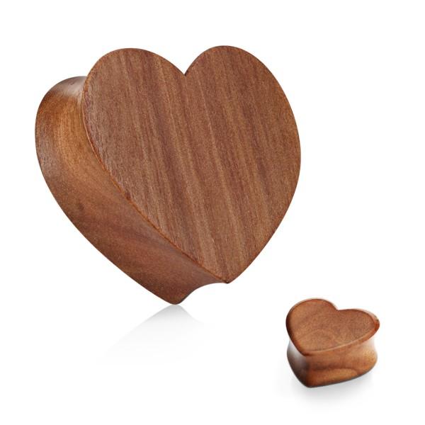 Drewno wiśniowe serce Plug Flesh Tunnel piercing kolczyk do ucha