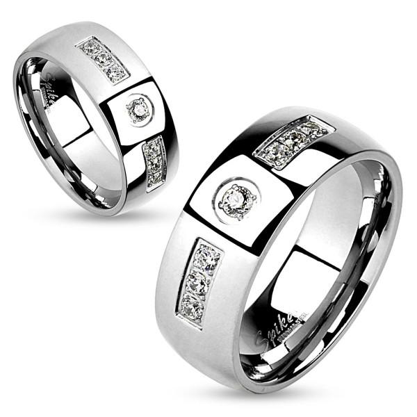 Kamyczki stal szlachetna pierścionek dla par obrączki