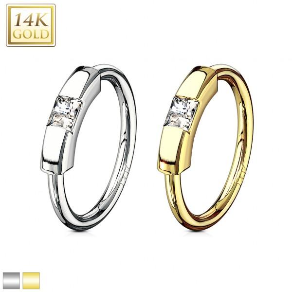 14 karatowe złoto 585 kolczyk CBR piercing intymny lub tagus helix