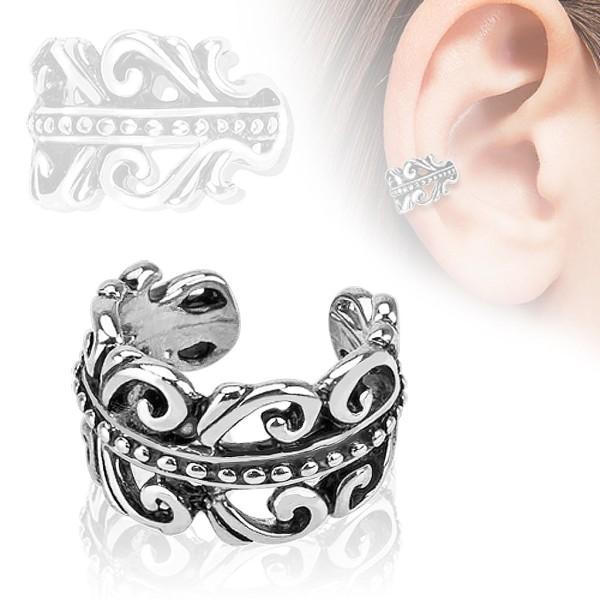 9b0fac5716fa7a Krona Nausznica Ear cuff kolczyk do ucha i chrząstki ucha klips bez  przekłuwania piercing