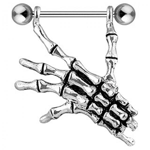 Dłoń szkielet kolczyk intymny do sutka sutków piersi