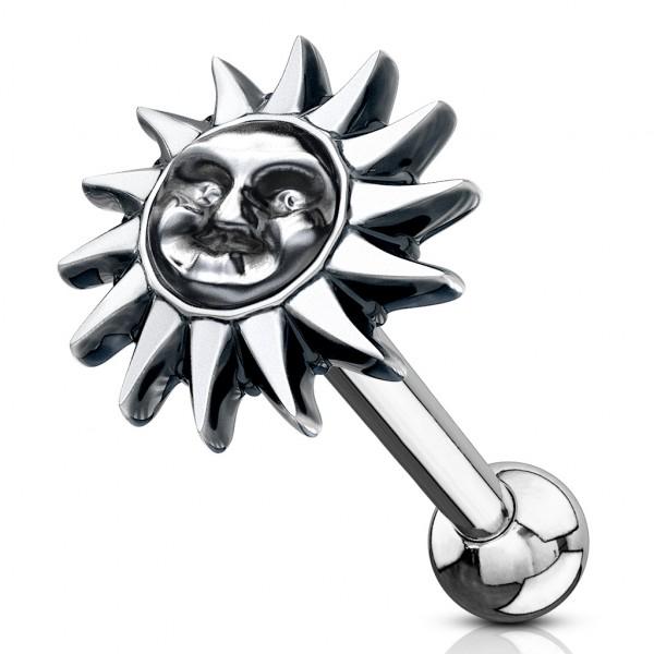 Słońce kolczyk do piercingu helix tragus sztanga
