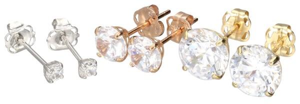 Złoto 18 karatowe kolczykk do piercingu ucha helix kryształ