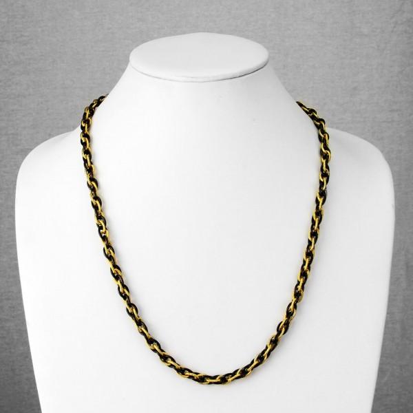 Łańcuszek na szyję biżuteria męska stal szlachetna