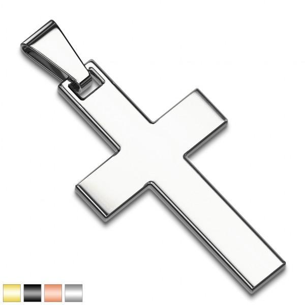 Krzyż złoty srebrny elegancka zawieszka ze stali szlachetnej