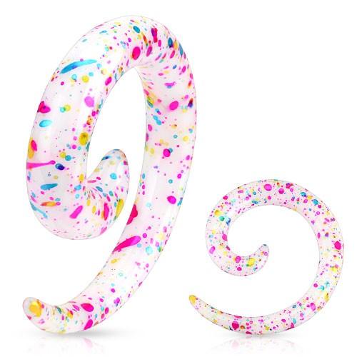 Rozpychacz spirala akryl kropki