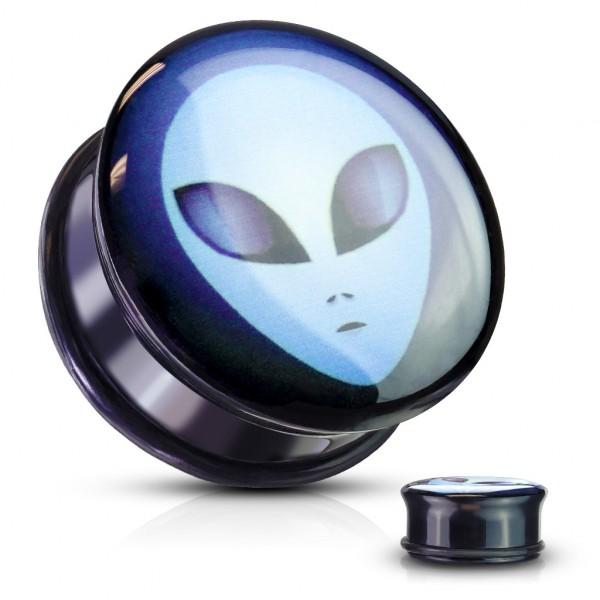Obcy Kosmita Plug do ucha z akrylu z Gumką