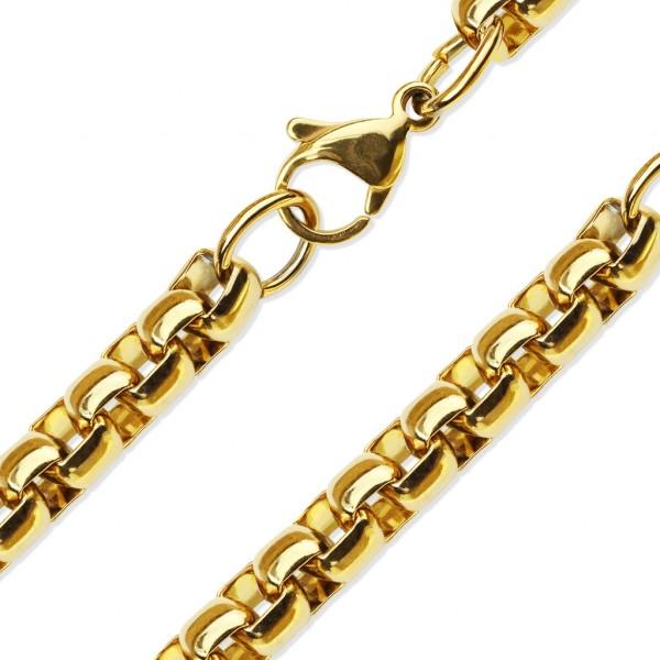 Złoty łańuszek ze stali szlachetnej