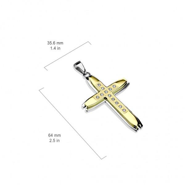 Krzyż zawieszka stal szlachetna 316L prezent