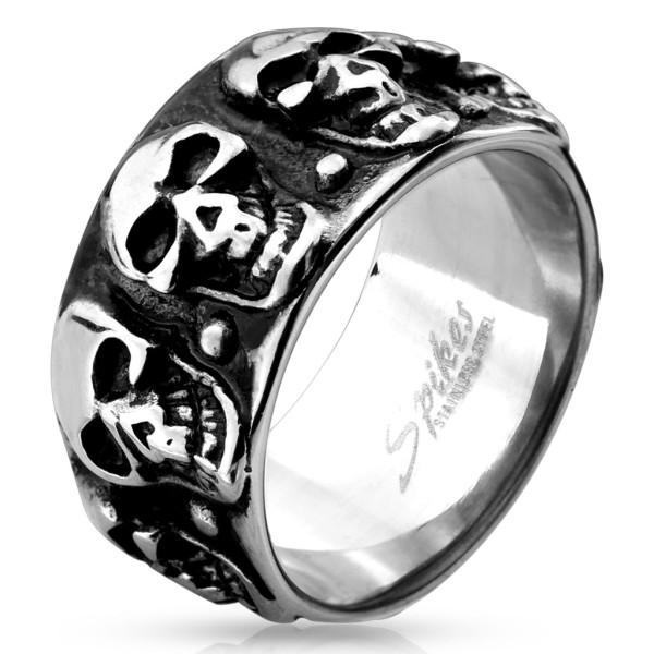 Czaszka wzór pierścionek ze stali szlachetnej