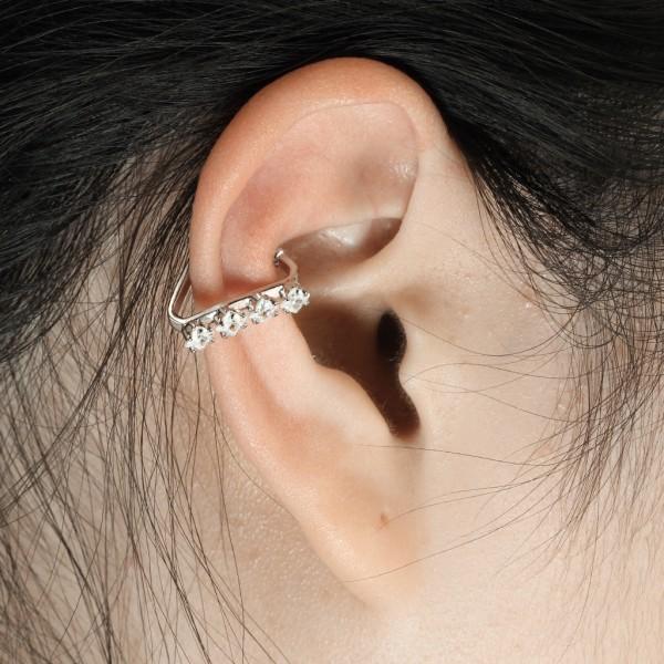 4x cyrkonia klipsy do ucha helix bez przekłuwania