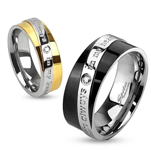 You Are Always In My Heart grawerowany pierścionek ze stali szlachetnej dla par