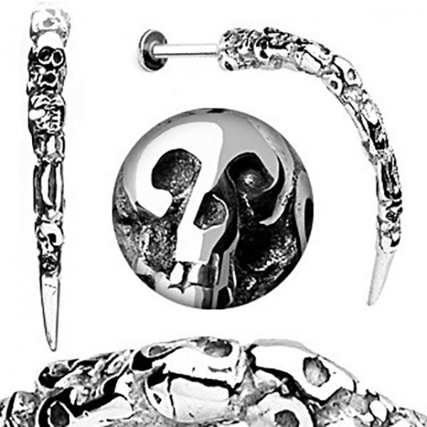 Czaszka kieł kolczyk labret do wargi ust brody twarzy madonna monroe lub chrząstki ucha tragus helix piercing
