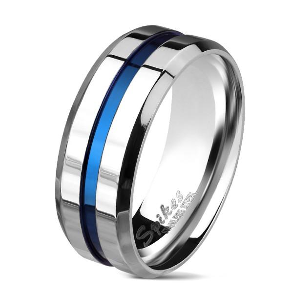 Niebiesko srebrna obrączka