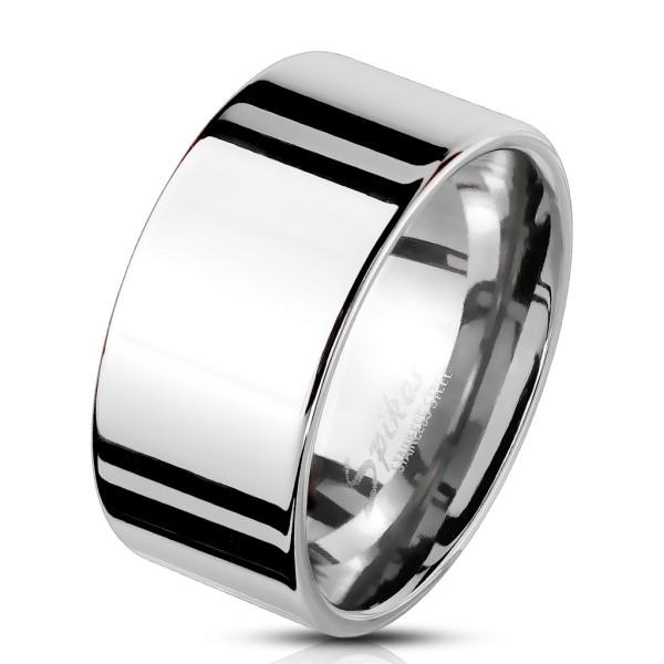 Szeroki pierścionek z polerowanyj stali szlachetnej